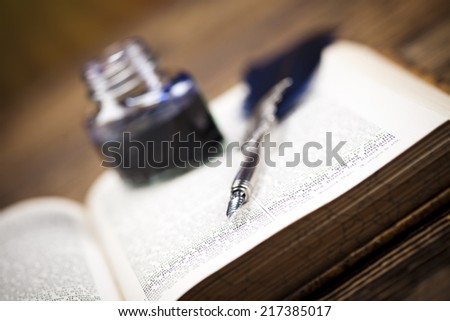 Paper message on pen   - stock photo