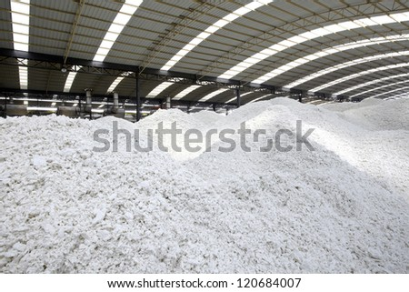 Paper mill's paper-making raw materials - stock photo