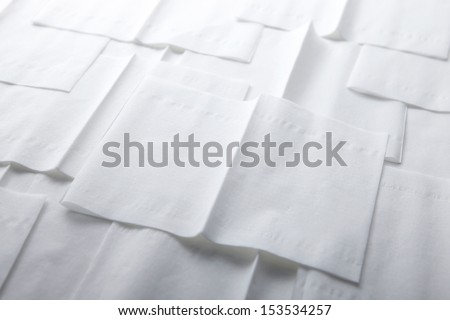 Paper Napkin on white background  - stock photo