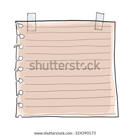 paper note and Masking Tape - stock photo