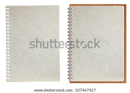 Paper notebook, isolated on white background (Save Paths For design work) - stock photo