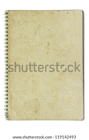 paper notebook right page on black background - stock photo
