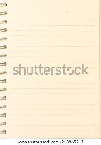 paper notebook right page used for background - stock photo