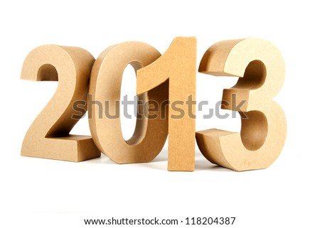 Paper numbers forming 2013 as for the new year - stock photo
