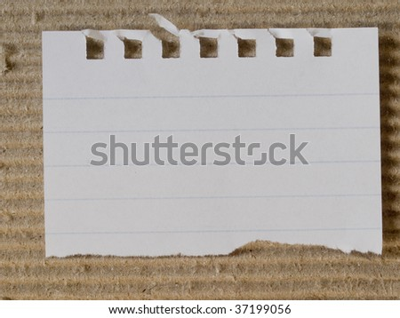 paper on cardboard - stock photo