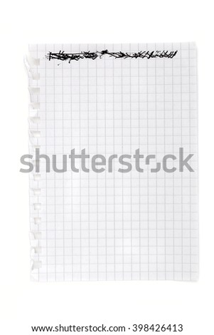 paper on the white background - stock photo
