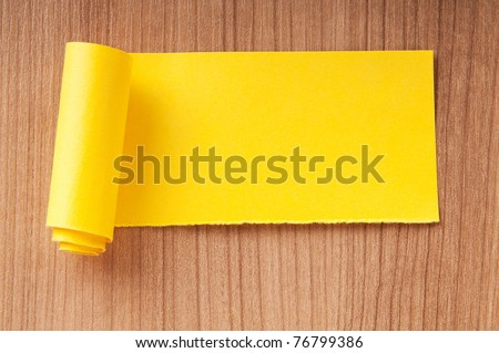 Paper pieces with space for your message - stock photo
