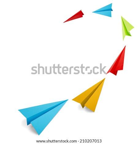 paper plane - stock photo
