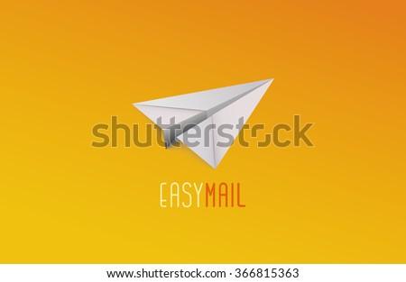 Paper Plane logo. Mail logo. Company logo - stock photo