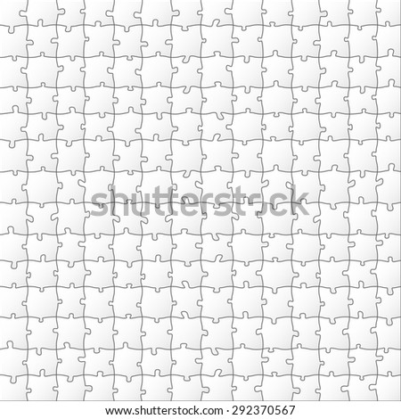 Paper Puzzle. Illustration Background for Design. - stock photo