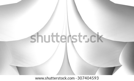 Paper rose pattern - stock photo