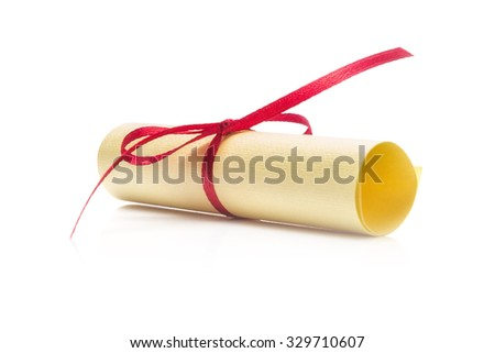 Paper Scroll  Isolated on White Background - stock photo