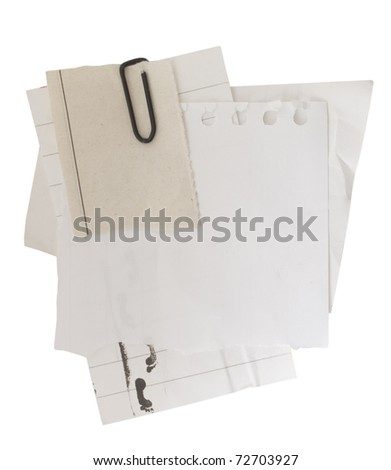 paper sheets with clip - stock photo