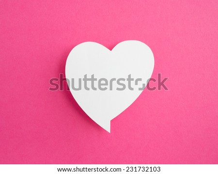 paper speech bubble - stock photo