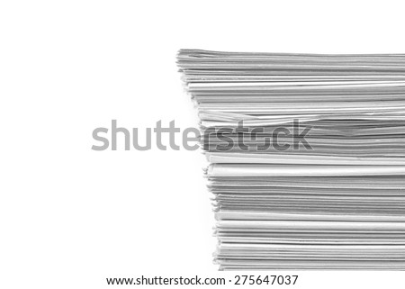 paper stack on white background - stock photo