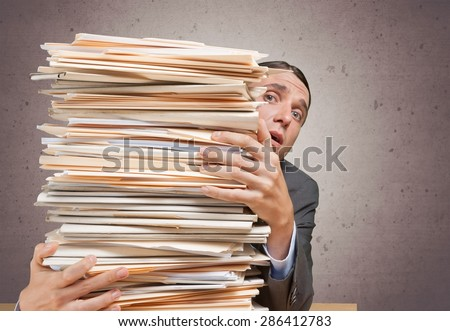 Paper, Stack, Paperwork. - stock photo