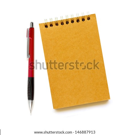 paper Tablet with a pencil - stock photo