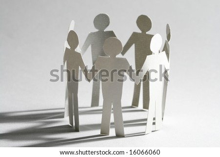 paper team - stock photo