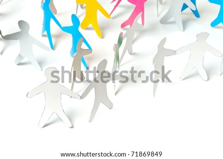 paper team - stock photo