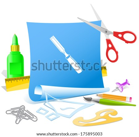 Paper template. Raster illustration. - stock photo