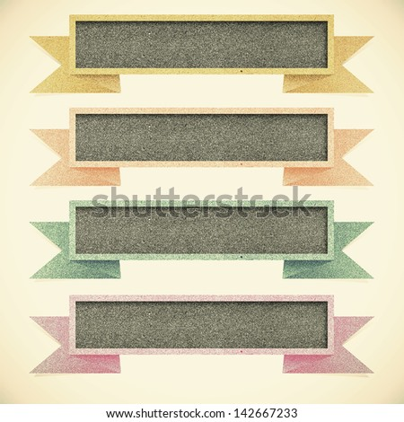 Paper texture ,Header tag recycled paper on vintage tone  background - stock photo