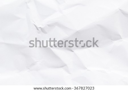 Paper texture. Paper sheet. Crumpled wrinkled. - stock photo