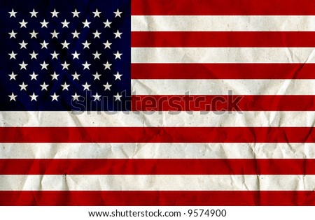 Paper Textured US-Flag - stock photo