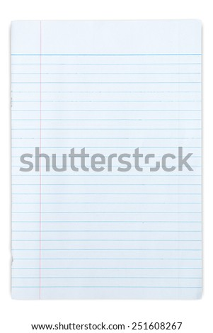 Paper textures isolated, on white background - stock photo