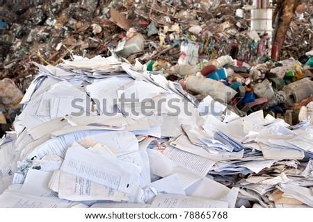 paper waste for recycle - stock photo