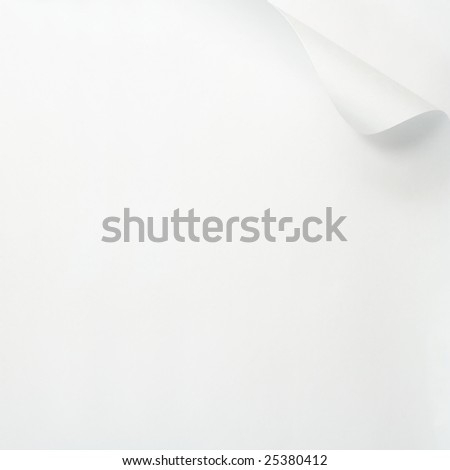 Paper with curled edge. - stock photo
