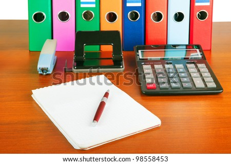 paper work - stock photo