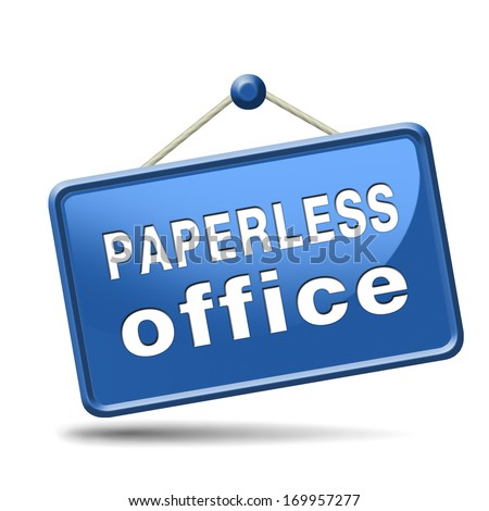 paperless office - stock photo