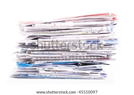 Papers, bills, letters - stock photo