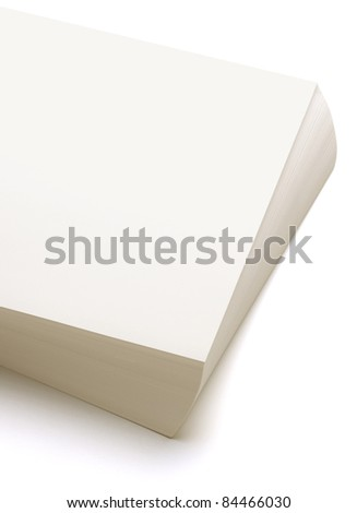 Papers stack on white background - stock photo