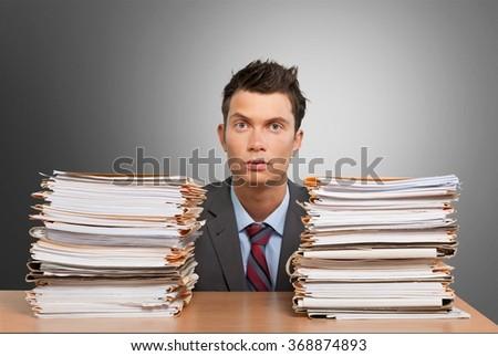 Paperwork. - stock photo