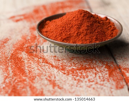 Paprika in a bowl - stock photo