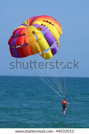 Para sailing on the sunny day - stock photo