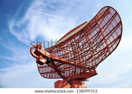 Parabolic antenna - stock photo