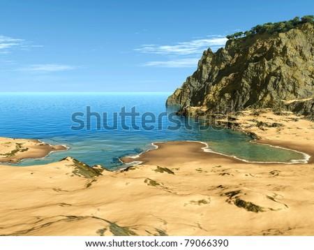 paradise bay - stock photo