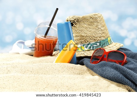 paradise beach and summer composition  - stock photo