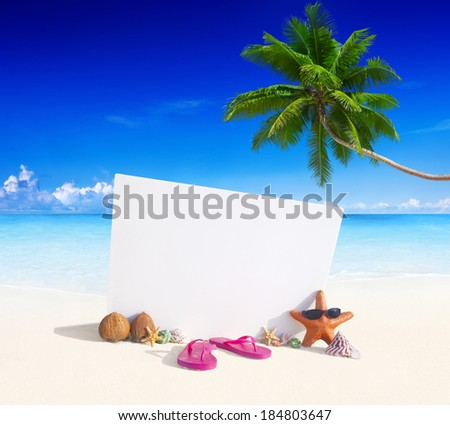 Paradise Beach Display - stock photo