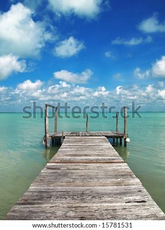 paradise bridge - stock photo
