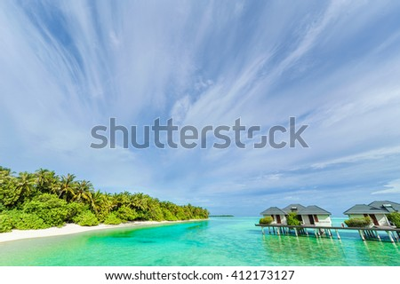 Paradise in Bora Bora - stock photo