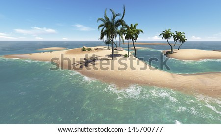 Paradise Island for two  - stock photo