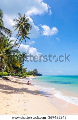 Paradise Island of Koh Samui - stock photo