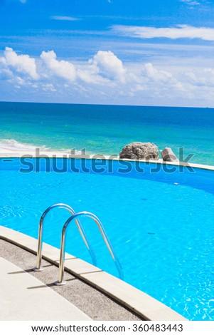 Paradise Pool Holiday Lifestyle  - stock photo