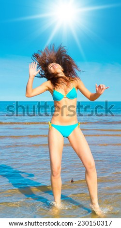 Paradise Portrait  - stock photo