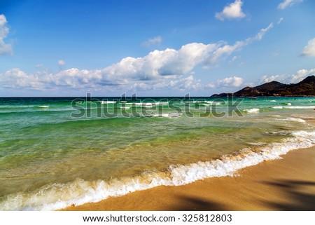 paradise sea beach summer nature landscape tropical vacation - stock photo