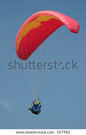 paragliding - stock photo