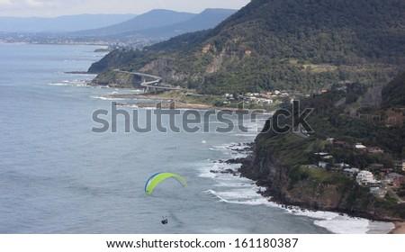 Paragliding in Australia - stock photo